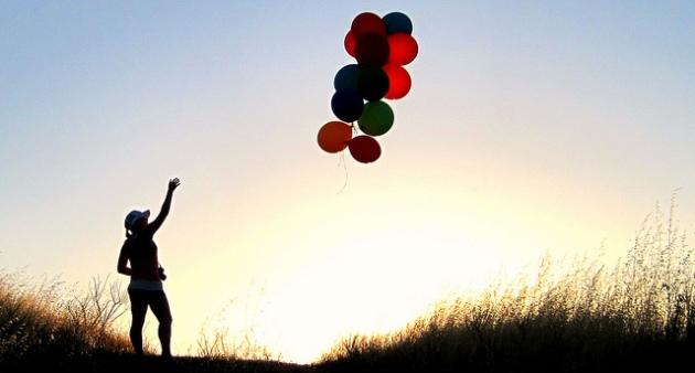 letting go balloons
