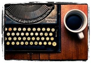 Typewriter and coffee large
